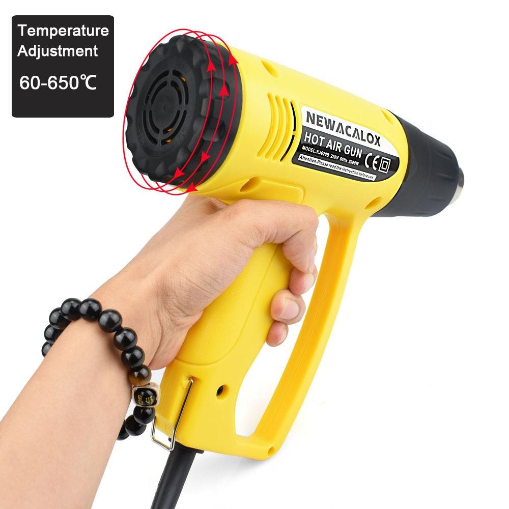 NEWACALOX soojuspüstol 2000W EU 220V tööstuslik elektriline - Elektrilised tööriistad - Foto 2