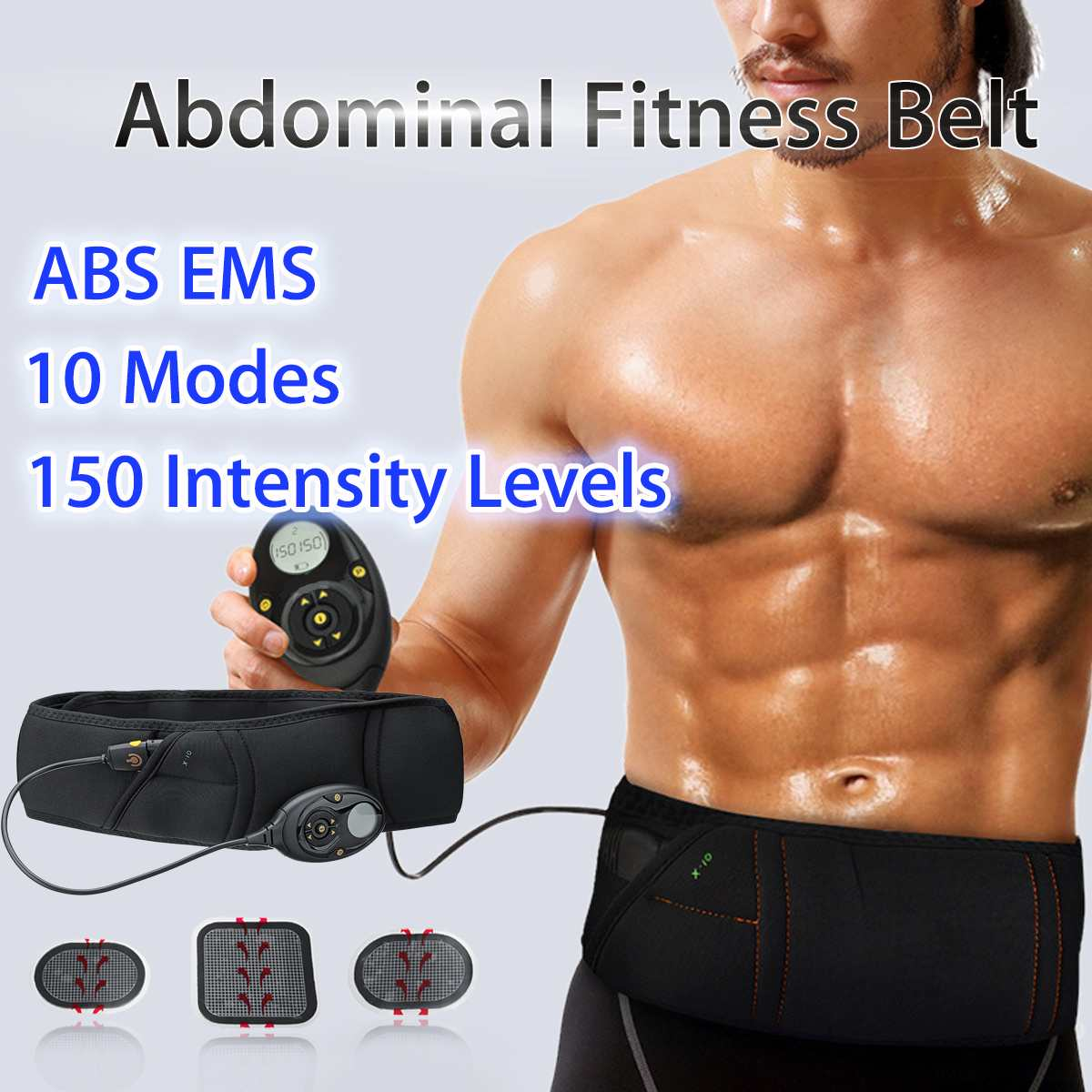 EMS Electric Abdominal Muscle Slimming Belt Lose Weight Fitness Massage Sway Vibration Belly Muscle Waist Trainer Stimulator
