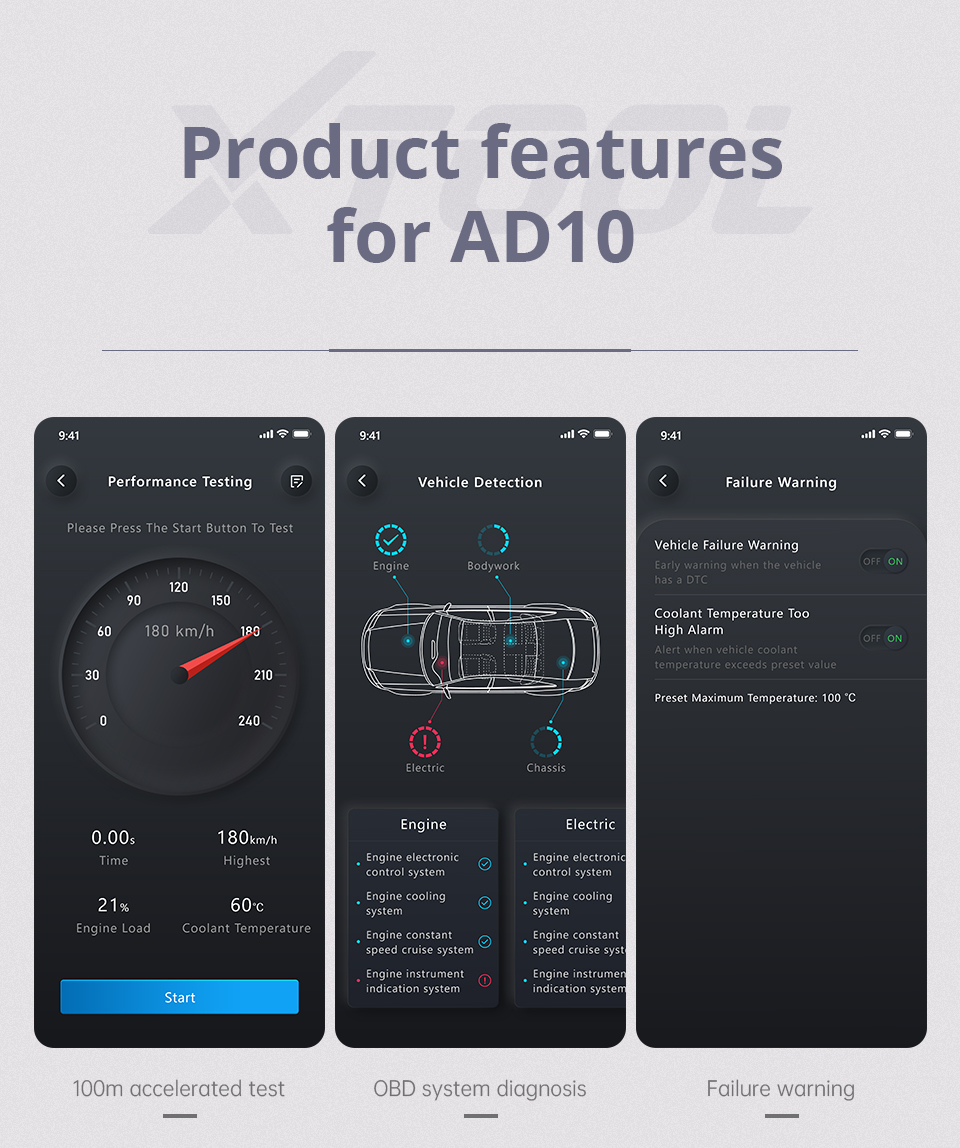 cheapest XTOOL AD10 OBD2 Diagnostic Scanner EOBD Bluetooth ELM327 v1 5 Code Reader Work with Android IOS Windows With HUD Head Up Display
