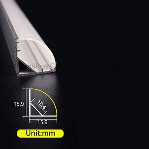 Image 2 - 4 stücke AC220V LED bar licht V form Dreieck aluminium profil LED Starren Streifen mikly/Transparent abdeckung Für Schaufenster schrank Küche
