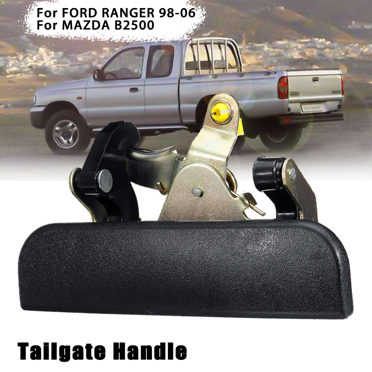 Black Rear Tailgate Trunk Handle For Ford Ranger For Mazda B2500 For Pickup 1999 2000 2001 2002 2003 2004 2005 2006 2007(China)