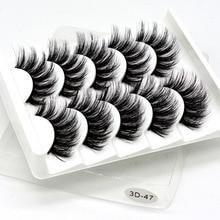 False-Eyelashes Beauty-Extension Makeup Mink-Hair Natural/thick 5-Pairs Silk 3D Wispy