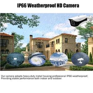 Image 4 - Home Überwachung AHD Kamera 4MP Wasserdichte Outdoor CCTV Kamera Mit 6PCS ARRAY IR LED ONVIF E mail Alarm nachtsicht 3,6mm objektiv