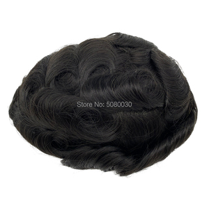 Image 5 - Toupee Hair Wigs for Men Skin PU base 100% remy Human Hair Replacement Toupees