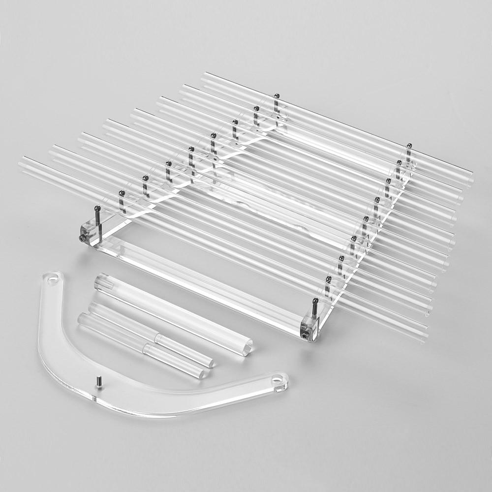 432Hz Cristal de arpa C tecla 8 notas de sanación para terapia de sonido con mazos de aluminio llevar caso instrumento musical Xilófono