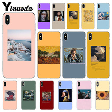 Yinuoda Great art aesthetic van Gogh Mona Lisa painting David Phone Cover for Apple iPhone 8 7 6 6S Plus X XS MAX 5 5S SE XR
