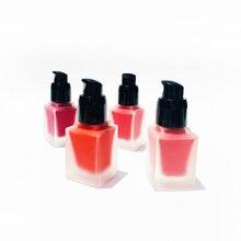 4 Colors Liquid Blush Private Label Makeup Cosmetics Face Peach Cream Blush Easy To Wear Red Blusher Facial Contour No Logo