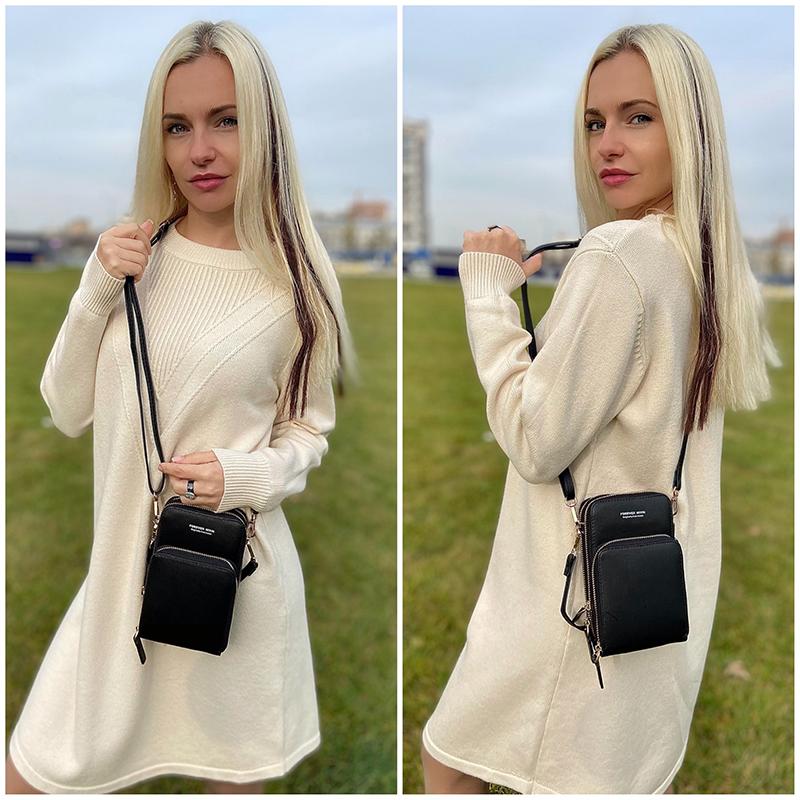 Mini Crossbody Shoulder Bags Women Multi functional Touchable Cell Phone Pocket Card Purse Ladies Small Bag Female Messenger Bag