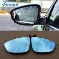 SmRKE 2 шт. для Volkswagen Passat зеркало заднего вида синие очки широкоугольные СВЕТОДИОДНЫЕ указатели поворота свет Подогрев питания