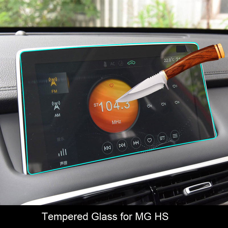 Car Screen Protector For MG HS Interior 2018 2019 Car GPS Navigation Tempered Glass Screen Protective Film Sticker Auto Access