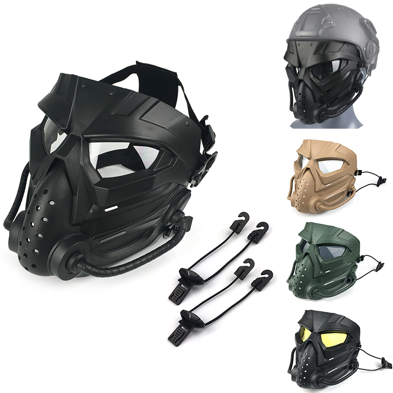 MP Airsoft Masks Defensive PC Lens Skull Paintball Games CS Field Mask Hunting Military Tactical Cycling Full Face Protections