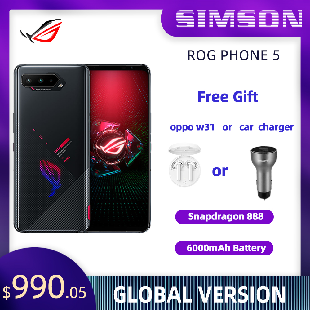 ASUS ROG Phone 5 глобальная версия Snapdragon 888 OTA Update 16/18RAM 256/512ROM 5G игровой телефон 6000 мА/ч, 65 Вт ROG5 Pro смартфон