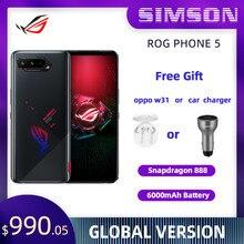 Asus rog telefone 5 versão global snapdragon 888 ota atualização 16/18ram 256/512rom 5g telefone de jogos 6000mah 65w rog5 pro smartphone
