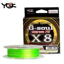 Ygk G-SOUL x8 atualizar trança linha de pesca super forte 8 fios multifilamento pe linha 150m 200 japão 14lb 16lb 22lb 60lb