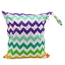 OhBabyKa Детские Пеленки сумки с принтом двойной молнии Влажная/сухая сумка водонепроницаемый влажная ткань пеленки рюкзак многоразовые пеленки крышка WetBag