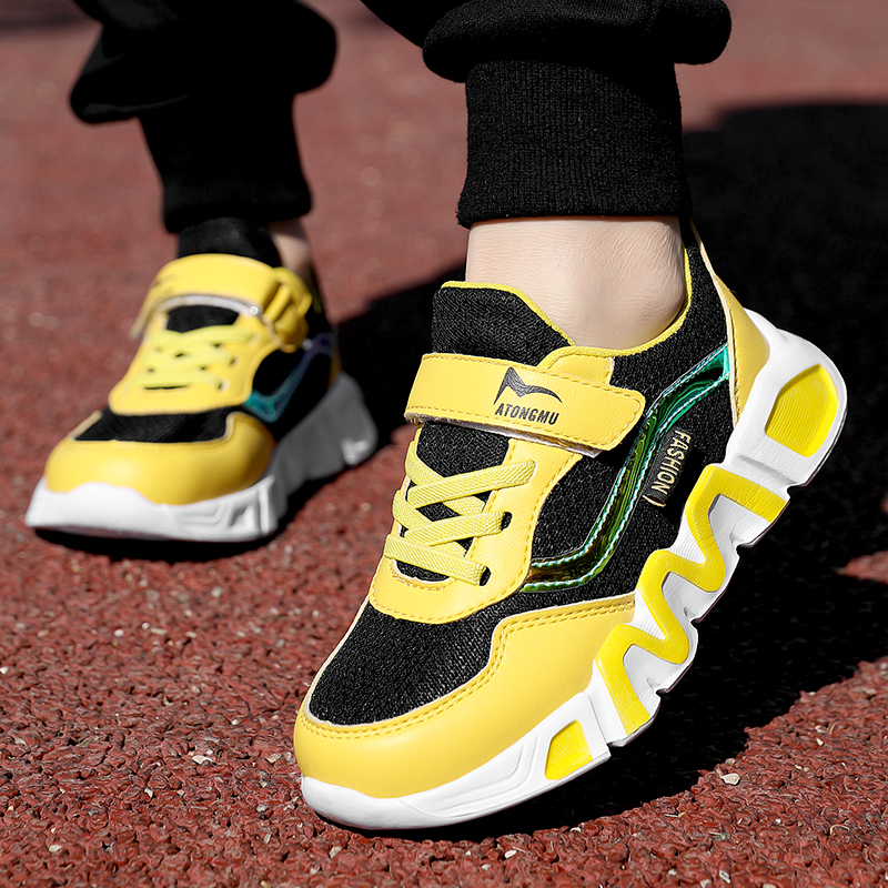 2021 New Kids Sport Shoes for Boys Sneakers Girls Soft Sole Basketball Shoes Boys Children Casual Shoes Child Running Shoes