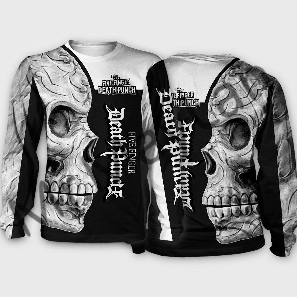 Fashion Five Finger Death Punch Skull Men/Women Sweatshirts Hoodies 3D Print Hip Hop Streetwear Sportswear Jackets Harajuku Tops