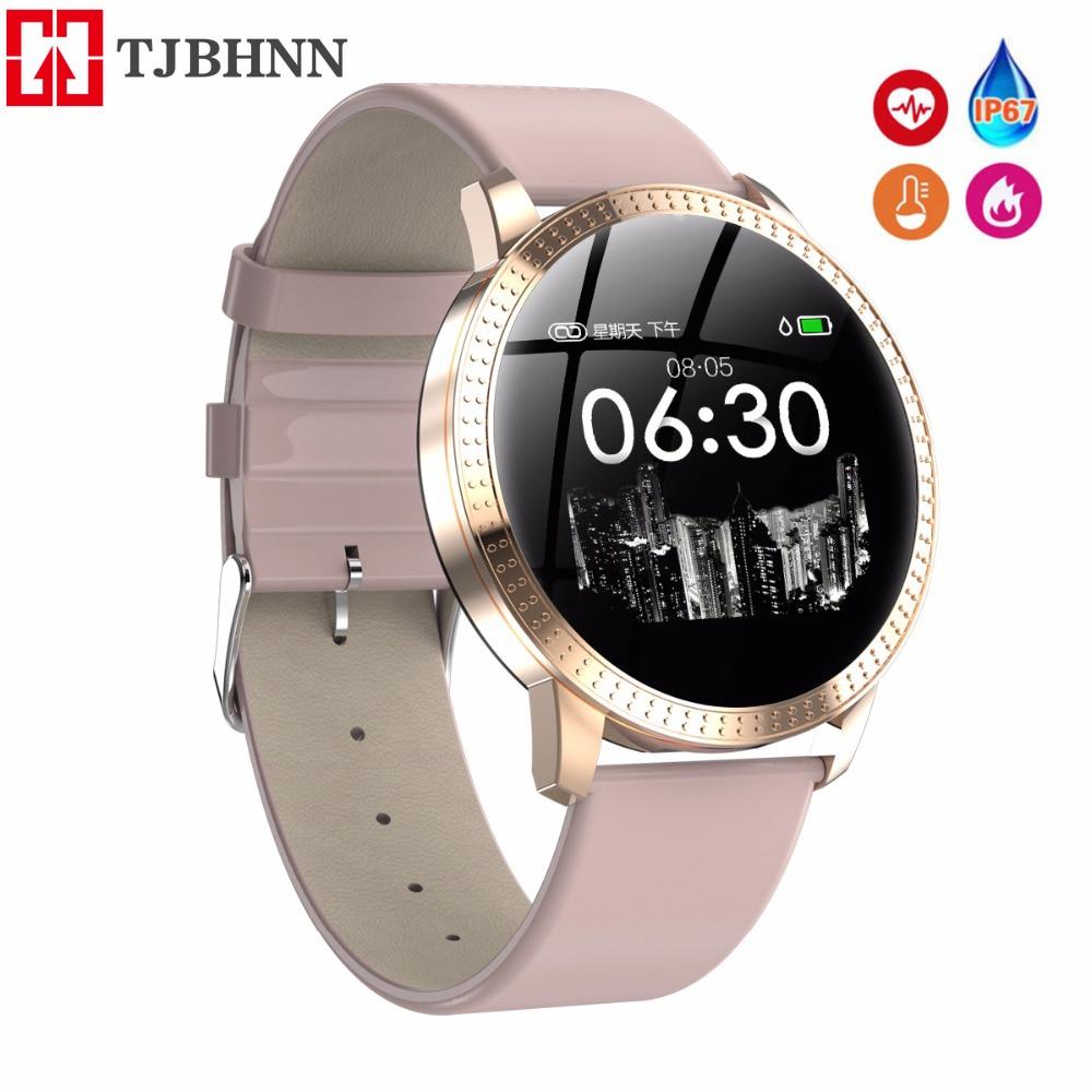 TJBHNN Smart Watch Women Running Reloj Heart Rate Monitor Bluetooth Pedometer Touch Intelligent Sports Watch for Running