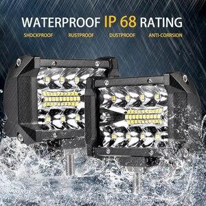 Image 3 - Aeobey ledライトバー4インチ60ワット防水作業ライトバースポット洪水ビーム仕事駆動オフロードボート車トラクタートラックsuv