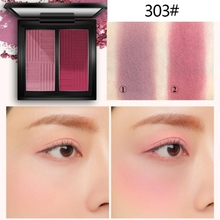 Forbidden City Style Two-tone Face Blusher Powder Rouge Makeup Cheek Minerals Palettes Brush Palette