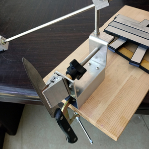 Image 3 - KME سكين مبراة المهنية درجة أكبر أحدث المحمولة 360 درجة دوران سكين طاحونة نظام واحد الماس المشحذ