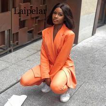 Laipelar 2019 Autumn Winter Blazer Dresses Women Deep V Neck Sexy Bodycon