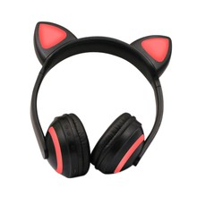 Hot 3C-New Gaming Headphones Headset wired/wireless Gamer Earphone Microphone for PS4 Phone PC Laptop kids headphones(Cat)(China)