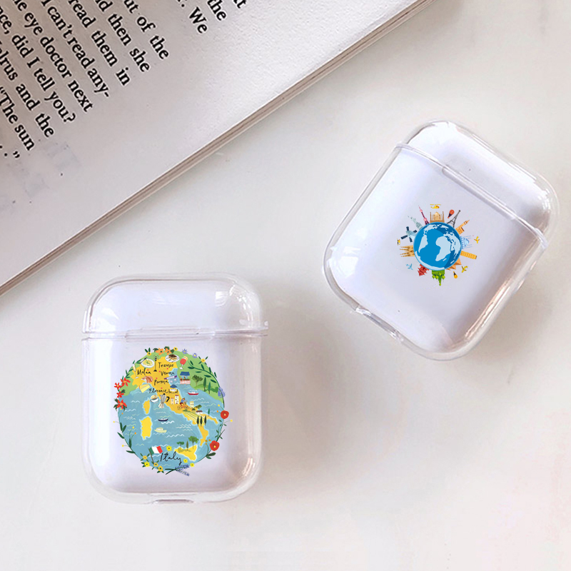 Cute Case For Apple airpods Case Cartoon Transparent Travel Bluetooth Earphone Case For Airpods 1 2 Protective Headphone Case in Earphone Accessories from Consumer Electronics