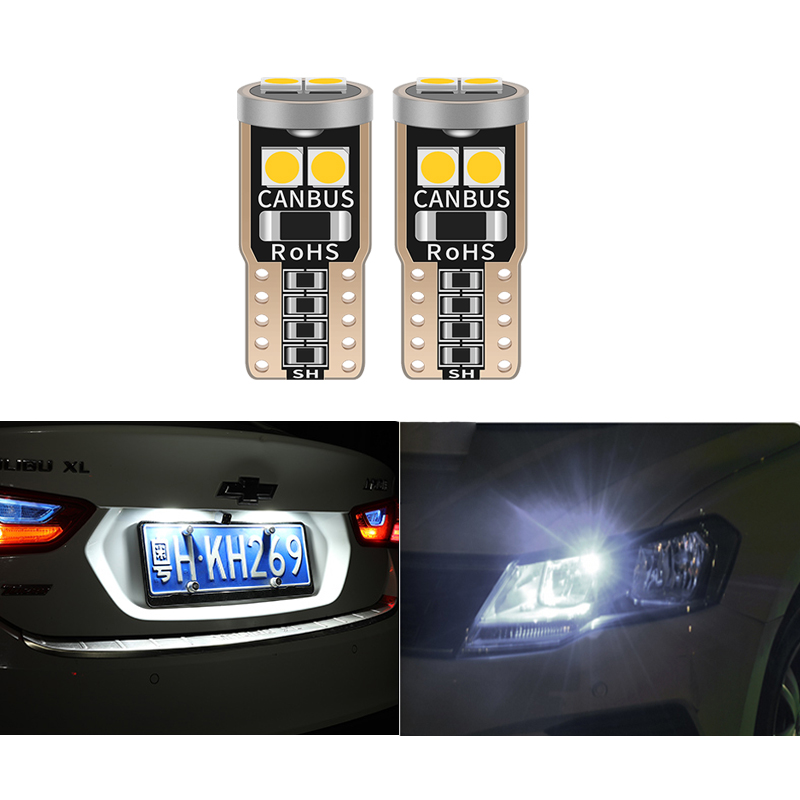 10pcs T10 W5W Led Bulb 194 168 Car Interior License Plate Light For Toyota Camry Corolla C-HR Crown RAV4 Corolla Prado <font><b>Prius</b></font> 3 image