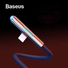 Usb-кабель Baseus для iPhone XS XR 11 Pro Max USB зарядный кабель для передачи данных светодиодный локоть 2,4 А кабель для быстрой зарядки для iPhone кабель для синхронизации данных