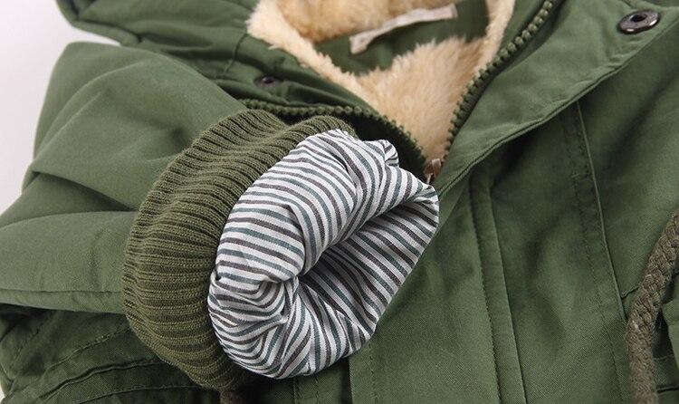Benemaker Children Winter Outdoor Fleece Jackets For Boys Clothing Hooded Warm Outerwear Windbreaker Baby Kids Thin Coats YJ023 25