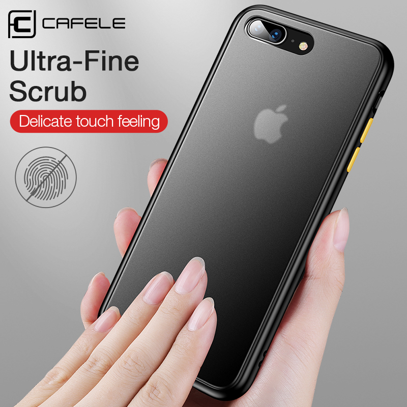 CAFELE Phone Case For iPhone 7 8 7plus 8plus PC Hard Back with Silicon Soft Edge Case Translucent Back Cover For iPhone 7 8 Plus in Fitted Cases from Cellphones Telecommunications