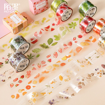 1Roll Fruit And Leaves Series PET Masking Tape DIY Ablum Diary Scrapbooking Label Adhesive Tape Sticker цена 2017