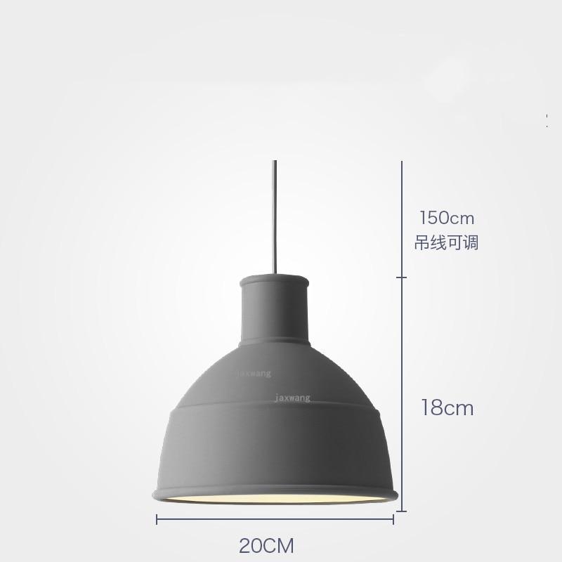 Новинка, подвесной светильник в скандинавском стиле, для столовой, макарон, s, смоляный светильник, светильники, кухонные подвесные лампы, подвесной светильник для гостиной, светодиодный, внутреннее освещение - Цвет корпуса: Grey 20CM