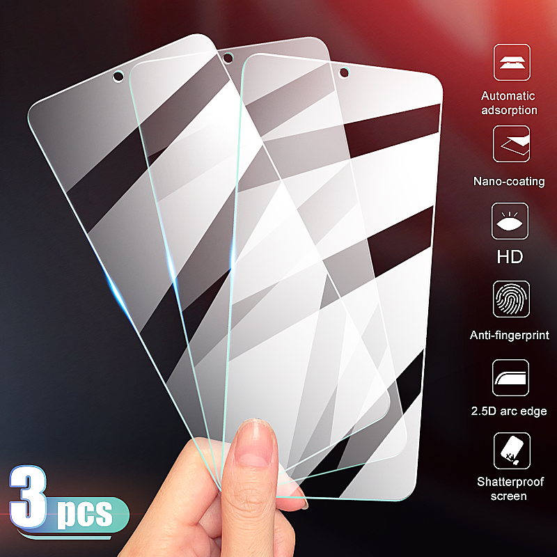 3-1Pcs Full Cover Tempered Glass On The For OnePlus 7 7T Screen Protector For OnePlus 6 6T 5 5T 3 3T 7 7T Protective Glass Film
