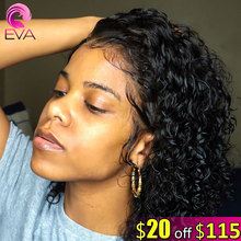 Eva Hair 150% Short Bob Curly 13×6 Lace Front Human Hair Wigs Pre Plucked With Baby Hair Brazilian Remy Hair Wig For Black Women