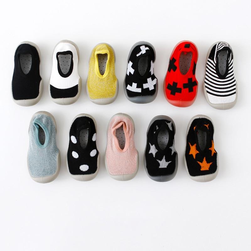 2019 New Baby Shoes Socks Baby Indoor Shoes Non-slip Cartoon Baby Socks Shoes Baby Toddler Shoes Soft Rubber Bottom Floor Socks