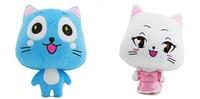 2Pcs/Set Anime Cartoon Fairy Tail Happy Carla Cat Plush Toy Dolls Stuffed Animals