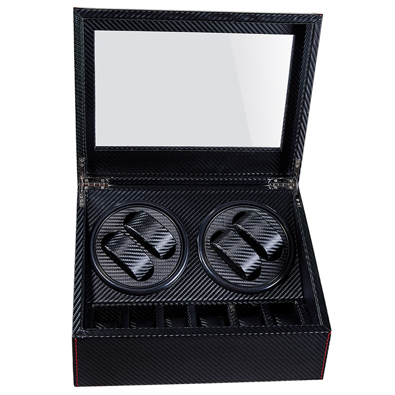 WATCH WINDER BOX for 10 Automatic Mechanical Watches Holder Motor Shaker Uhrenbeweger Organizer Jewelry Winding Storage Casket