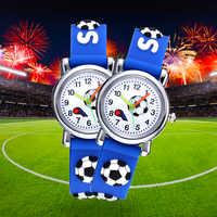 Fútbol silicona niños relojes diseño único Bola de dibujos animados reloj de pulsera niño cuarzo Montre Enfant niños cumpleaños regalo reloj niño