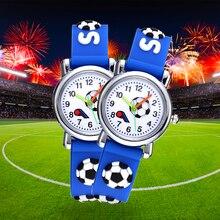 Football Silicone Kids Watches Unique Design Cartoon Ball Wristwatch Boy Quartz Montre Enfant Children Birthdays Gift