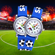Football Silicone Kids Watches Unique Design Cartoon Ball Wristwatch Bo