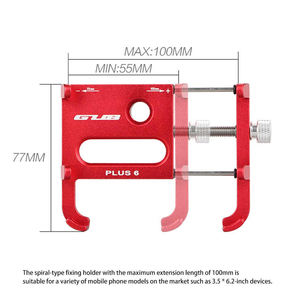 Держатель GUB Plus 6 из алюминиевого сплава для горного мотоцикла, велосипеда, велосипеда, держатель с зажимом на 360 градусов, подходит для смартфонов 3,5-6,2 дюймов с GPS