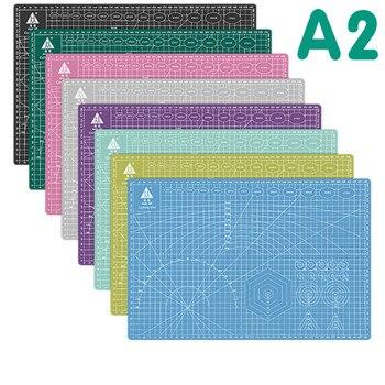 1Pcs 60 * 45cm A2 Cutting Board Grid Line Self-healing Cutting Board Craft Card Multi-color Double-sided Desktop Cutting Pad Mat