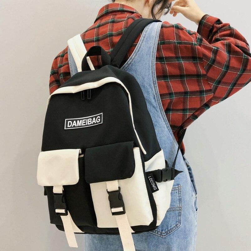 DCIMOR, новинка, непромокаемый нейлоновый женский рюкзак с двойным передним карманом для девочек подростков|Рюкзаки| | АлиЭкспресс