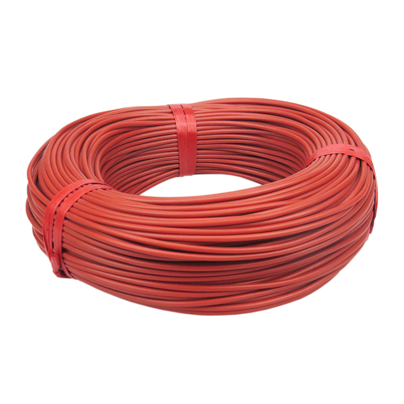 Image 3 - 100m Can shipped from Russian 12K with thermostat Red Silicone Rubber Infrared Carbon Fiber Warm Floor Heating Cable-in Wires & Cables from Lights & Lighting
