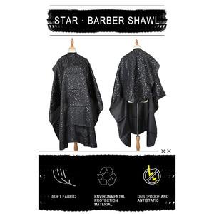 1Pc 142x155cm Professional Hair Dresser Shawl Salon Style Shawl Adjustable For Cutting Hair Apron Household Black Haircut Wape(China)