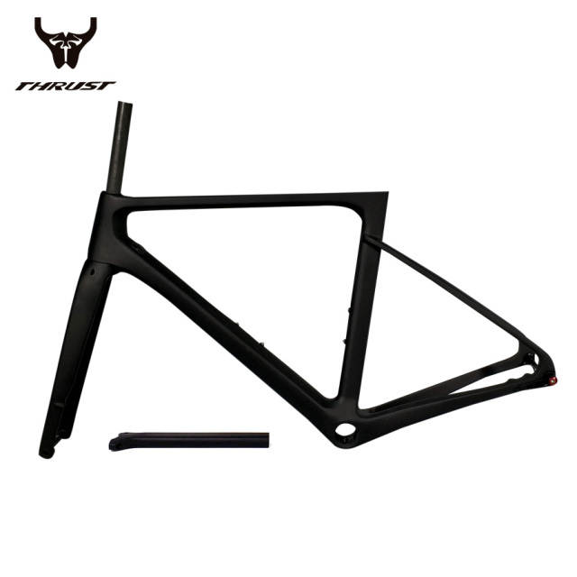 Carbon Frame Disc Brake Road Bicycle Frame THRUST 2019 Racing Bike Frame Carbon Thru Axle Rear Derailleur 142x12 Front 100x12mm