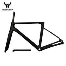 Poussée du cadre de vélo de route en fibre de carbone, axe traversant, dérailleur arrière, cadre de vélo de route 2019x12 avant, 100x12mm