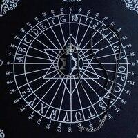 Tarot Tablecloth Divination Tarot Card Pad Pendulum Magic Pentacle Runes Tarot Altar Table Cloth 30x30cm